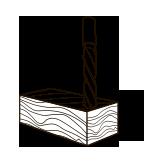Gaurire maxima Ø in lemn